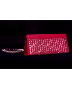 Red Zari clutch