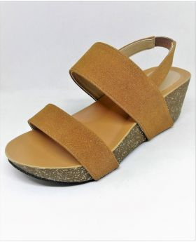 Stylish Brown Artificial Leather Sandal with Block-Heel for Women