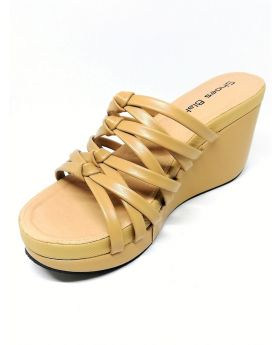 Brown Artificial Leather Block-Heel Sandal for Women