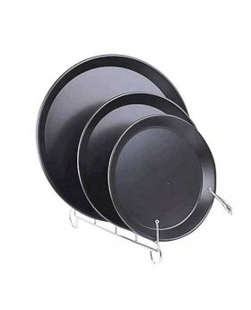 3 Piece Pizza Pan Set - Black