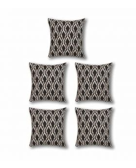Five Pieces Cushion & Cover Set(Black)