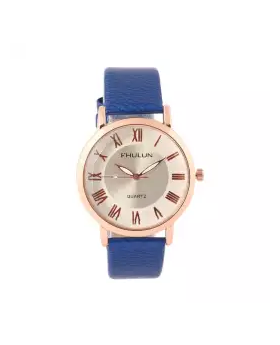 Synthetic Leather Analog Watch for Women - Blue