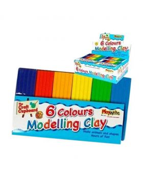 6 Colors Modelling Clay 40gm - Multi-color