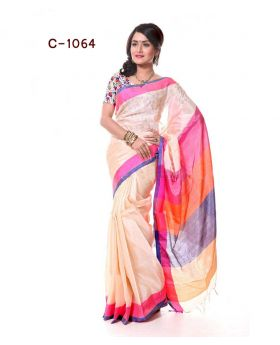Tangail Silk Saree for Women (Mix-Colour)