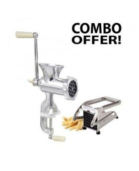 Potato Chopper and Meat Grinder - Silver