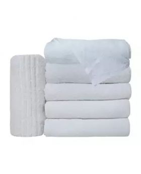 6 Pcs Hand Towel-White