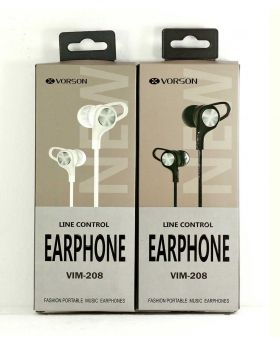 Vorson VIM-208 Stereo Earphone - White