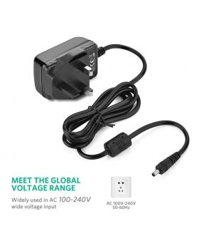 Ugreen 12V 2A Power Adapter    UK DC port size 5.5*2.1*11mm   Black