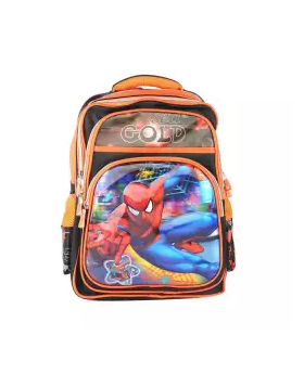 Raksin School Bag For Boys - Orange and Black