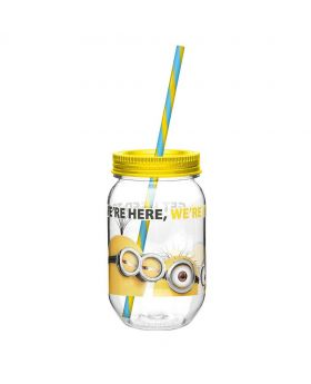 Despicable Me Drinks Jar-Yellow and Transparent