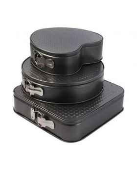 3 Pieces Non Stick Cake Pan Set – Multi Shape