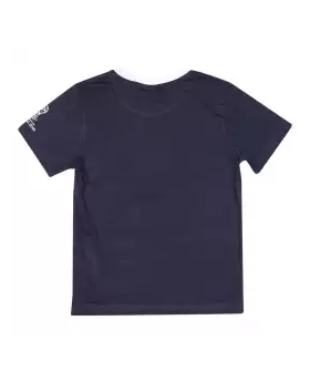 Black Cotton Short Sleeve T-shirt For Boys
