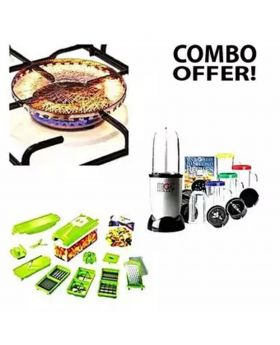 Kitchen Combo Magic Bullet, Nicer Dicer and Gas Saving Net