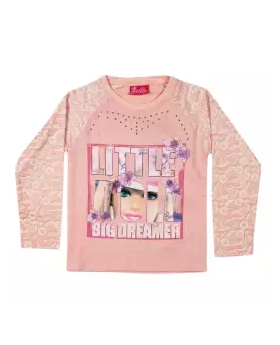 BabyPink Cotton Full Sleeve Sweater for Girls 01