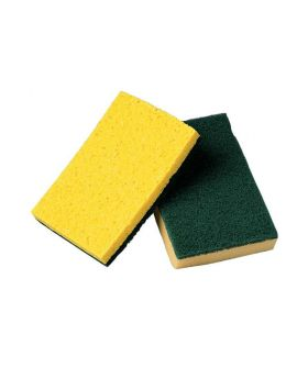 Cellulose Sponge With Scouring Pad
