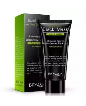 BIOAQUA Bamboo Charcoal Purifying Peel-off Black Mask Blackhead Remover Acne Treatments Face Care Sunction Deep Cleansing - 60gm