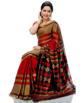 Maslice Cotton Saree-Multi of color