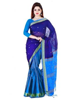 Blue Maslice Cotton Saree