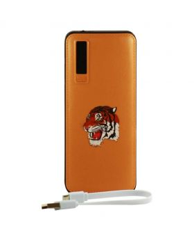 Vorson 10000 mAh Printed Power Bank - Brown