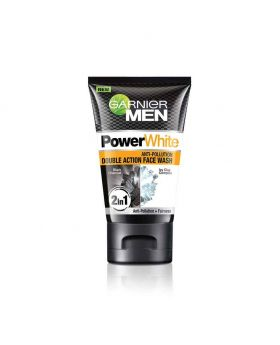 Garnier Men Power White Anti-Pollution Double Action Facewash, 100gm (India)