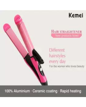 KM-1055 2 in 1 Electric Hair Curler Hair Styling Tools Ceramic Curling Iron