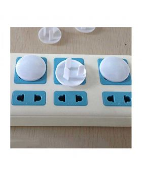 3 Plugs for Kids/Baby Socket Safety Covers - White