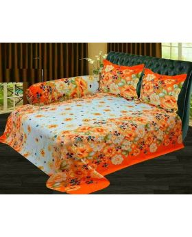 Cotton Double Size Bed Sheet – 3 pcs