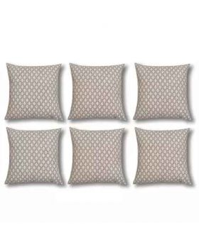 Six Pieces Sliver Cushion Cover Set