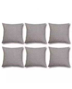 Sliver Color Six Pieces Cushion Cover Set