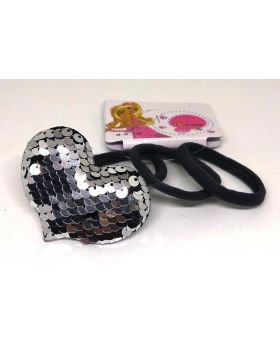 Love Designe Rubber Band for Baby - Black