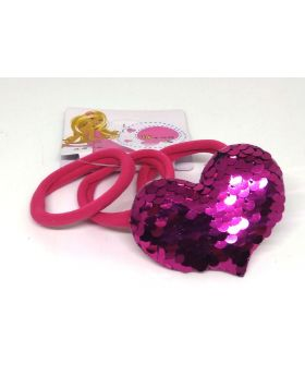Love Designe Rubber Band for Baby - Deep Pink