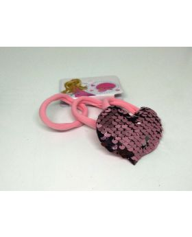 Love Designe Rubber Band for Baby - Rose Pink