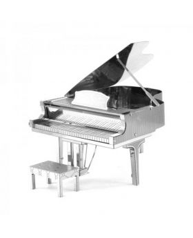 Piano 3D Metallic Puzzle Educational DIY Toy - Silver