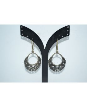 ERMAN SILVER EARRING OXCIDICE