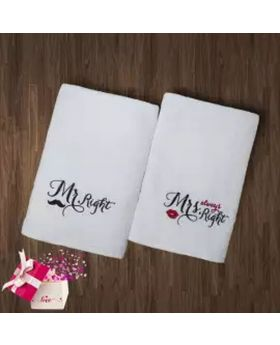 Mr. & Mrs. Towel set( Valentine Gift)
