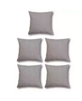 Five Pieces of Cushion & Cover Set-Silver