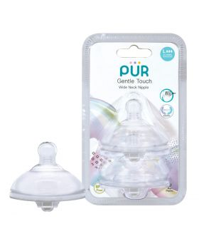 PUR Gentle Touch Wide Neck Nipple Size L-2pk (9823)