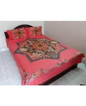 Double Size Cotton Bed Sheet -with Matching  Pillow Covers