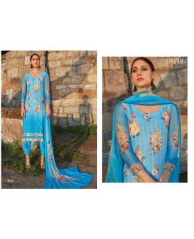 Embroidery  Printed Organdi Salwar Kameez Dress