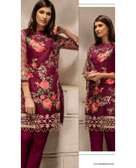 Azure  Embroidered  Unstitched Kurti