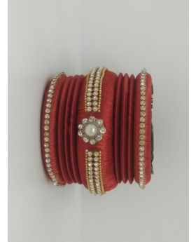 Maroon Color Silk Thread Bangles for Women