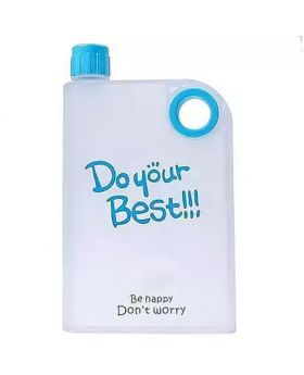 Notebook Water Bottle - 380ml - Transparent