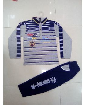 Boys 2 pcs set ( full sleeve polo shirt + full pant )