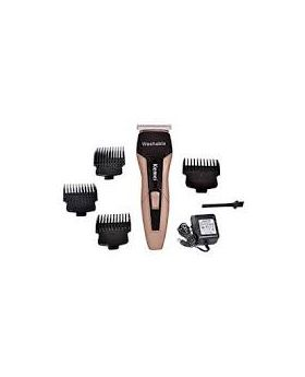 Waterproof Professional Trimmer With Clipper KM-5015 - Gold and Black