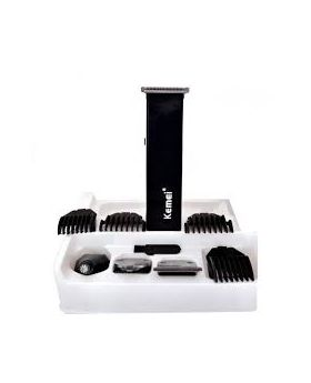 KM-3580 4-In-1 Grooming Trimmer and Shaver Set - Black