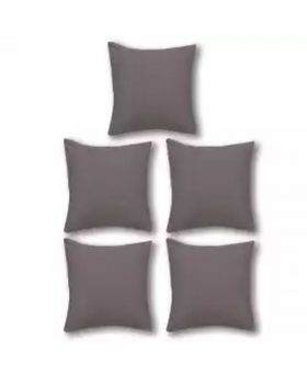 Five Pieces of Cushion & Cover Set Grey