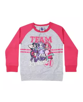 Light Gray and Pink Cotton Long Sleeve T-shirt For Boys