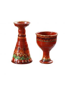 Hand Painted 1 Pair Candle Stand Design No 1