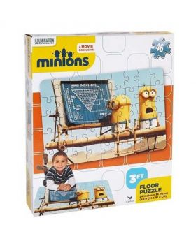 Huge Minions Floor Puzzle - Multicolor