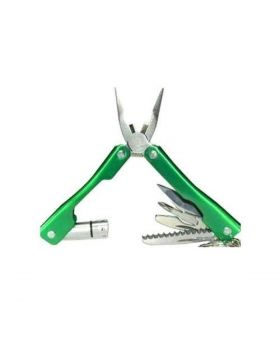 9 in 1 Multi Function Plus Tool – Green and Silver